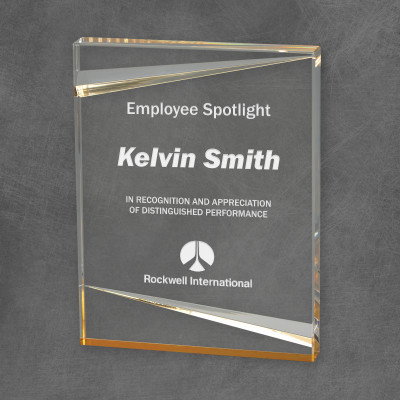 Gold Accented Employee Appreciation Acrylic Award