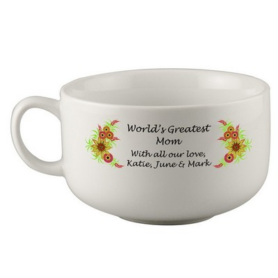 Greatest Mom Personalized Soup Bowl