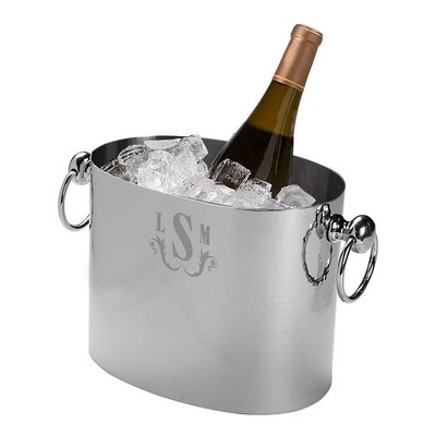 Hammered Lenox Stainless Steel Monogrammed Ice Bucket