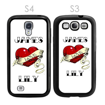 Heart Tattoo Personalized Galaxy S3-S4 Case