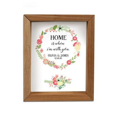Personalized Home with You Framed Shadow Box