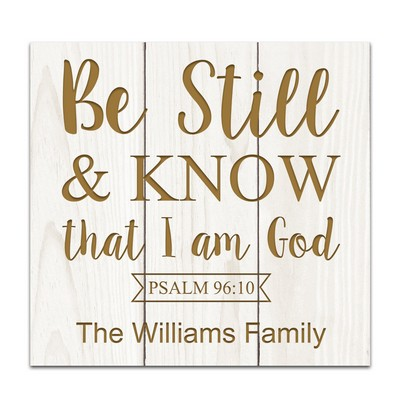 I Am God Personalized White Pine Pallet Wall Decor