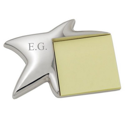 Sleek Shining Star Note Pad Holder
