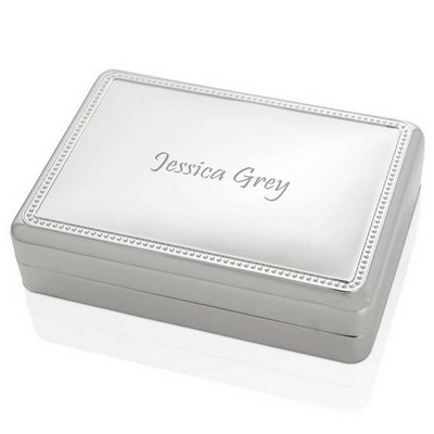 Silver Plated Keepsake Box