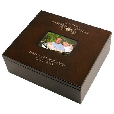 Dads Special Personalized Keepsake Box with Frame