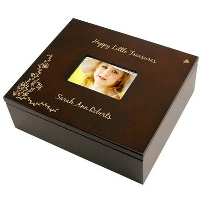 Pretty Treasure Keepsake Box with Picture Frame Lid