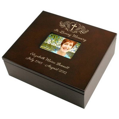 Holy Cross Memorial Personalized Keepsake Box with Picture Frame