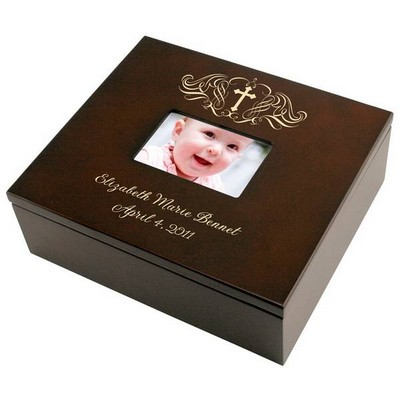 Holy Cross Personalized Keepsake Box with Frame