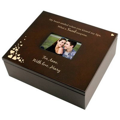 First Kiss Treasure Box with Photo Frame