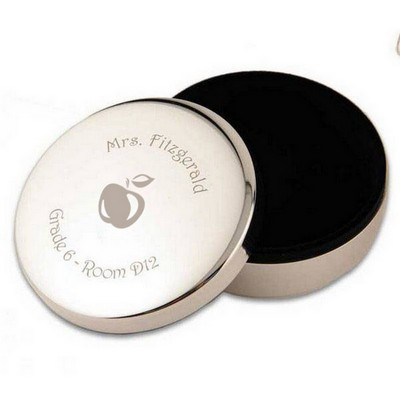 Silver Apple Teachers Keepsake Box