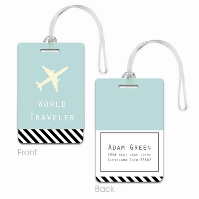 Personalized World Travelers Luggage Tag