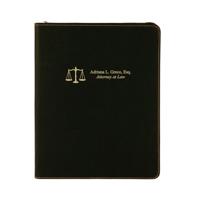 Lawyers Black Leatherette Personalized Portfolio with Notepad