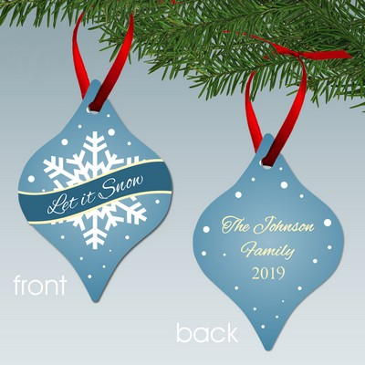 Let It Snow Personalized Family Tapered Style Aluminum Ornament