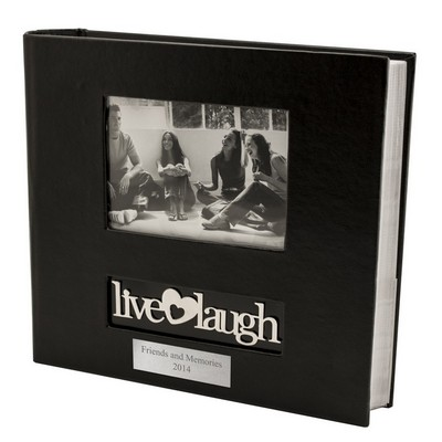 Live Love Laugh Personalized Black Photo Album