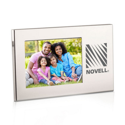 Logo Engraved Silver 3x5 Picture Frame