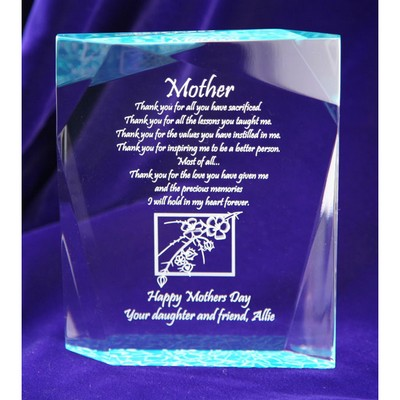 Unique Crackled Mothers Day plaque