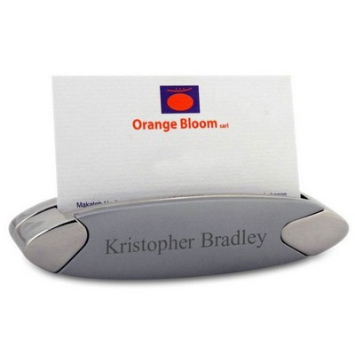 Curved Desktop Business Card Holder