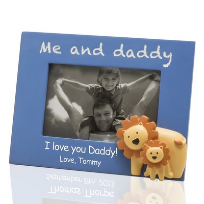 Me and Daddy Customized 4x6 Photo Frame