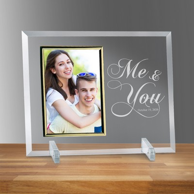 "Me and You Glass Personalized 5"" X 7"" Photo Frame"