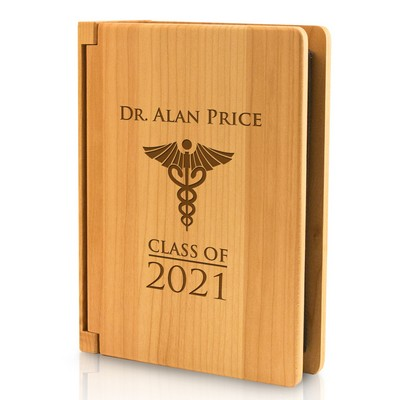Medical School Graduation Personalized 4x6 Wood Photo Album