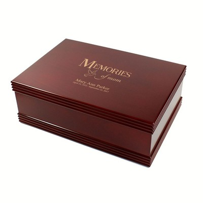 Memories of Mom Rosewood Memorial Keepsake Box