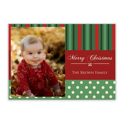 Merry Christmas Family Photo Card