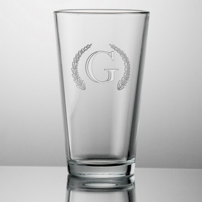 Monogrammed 16 oz Beer Glass