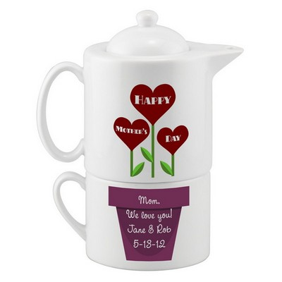 Mothers Day Personalized Tea Set