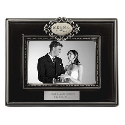 Mr and Mrs Engraved 4x6 Wedding Photo Frame