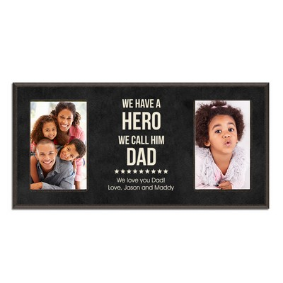 Our Hero Double 4 x 6 Photo Frame