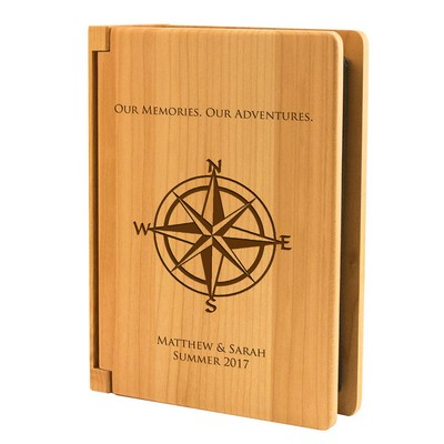 Personalized Our Memories Wooden Photo Album