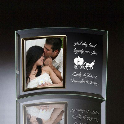 Happily Ever After Curved Glass Vertical 5x7 Photo frame