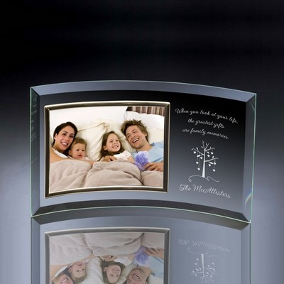 "Family Tree Curved Glass Horizontal 8"" x 10"" Photo frame"