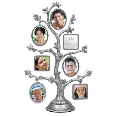 Personalized Silver Family Photo Tree