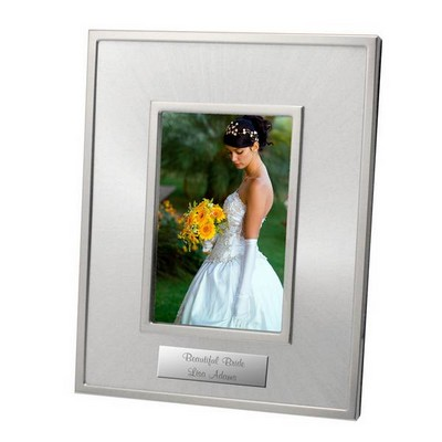 4x6 Starburst Personalized Silver Photo Frame