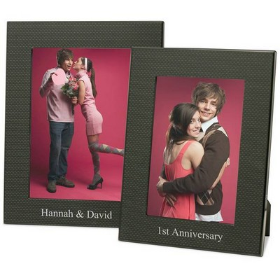 Personalized Black Carbon Fiber Look Picture Frame