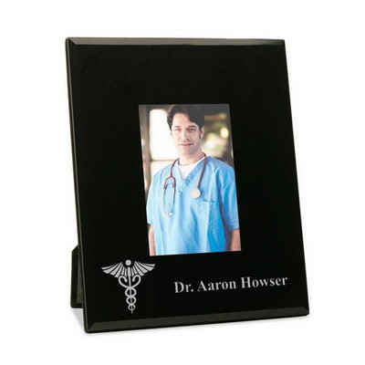 Personalized Doctor Frame with Medical Caduceus