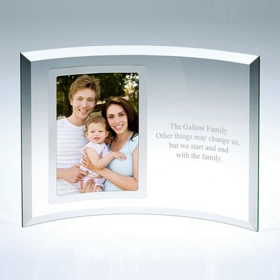 Curved Glass Vertical Silver 4x6 Frame