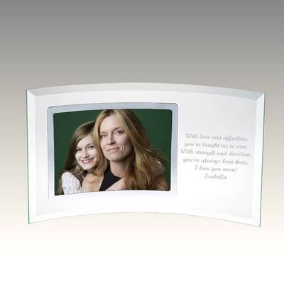 Curved Glass Horizontal Silver 3 1/2x5 Photo Frame