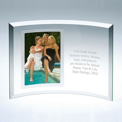 Curved Glass Vertical Silver 5x7 Frame