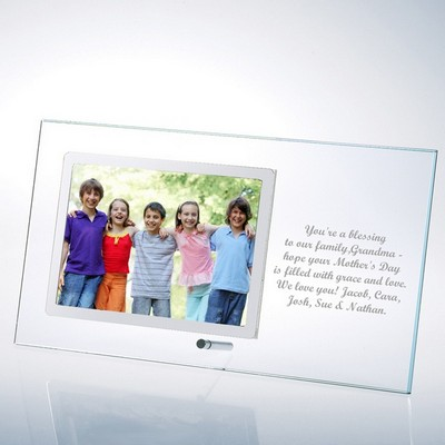 Glass Horizontal 5x7 Photo Frame