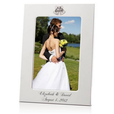Elegant Silver Wedding Bells Frame