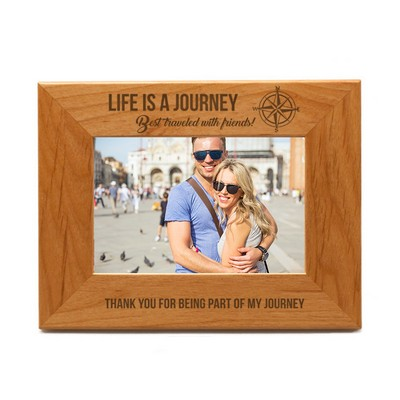 Life is a Journey Wooden Photo Frame