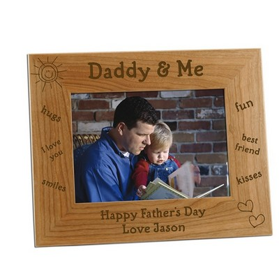 5x7 Daddy and Me Personalized Photo Frame