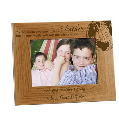 5x7 Worldy Father Personalized Photo Frame