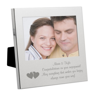 Silver Romantic Hearts Message From the Heart Frame