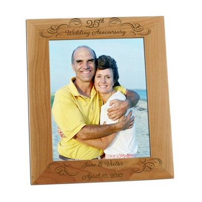 25th Wedding Anniversary 8x10 Photo Frame