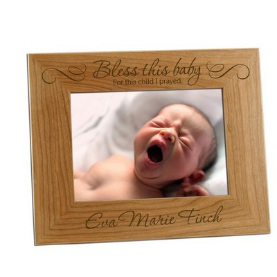 For This Child I Prayed Baby 5x7 Photo Frame