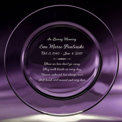 Memorial Crystal Keepsake Plate