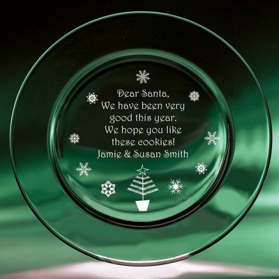 Personalized Crystal Christmas Keepsake Plate